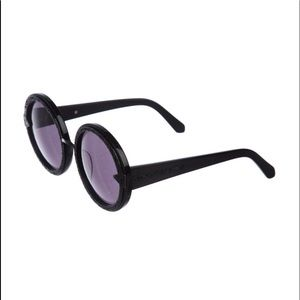 NWOT! Karen Walker Black acetate round sunglasses